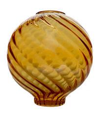 スパイラルシリーズグローブ ボール  薄いアンバー