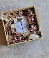フレグランスディフューザーとお花のギフトセット  L  アンティークピンク