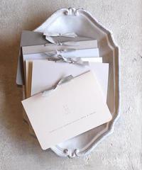 【印刷込】招待状 グレーカラー 手作りキット