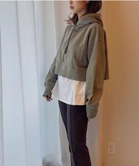 wash short hoodie