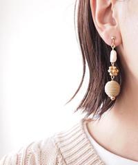 Hand made earrings&pierce -j117