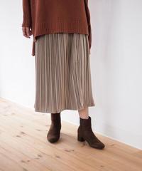 フェイクプリーツ  フレアースカート
