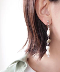 Hand made earrings&pierce -j108