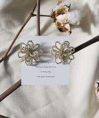 beads flower(silver)