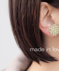 Hand made earrings&pierce-j033