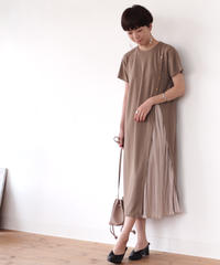 slit pleats one-piece