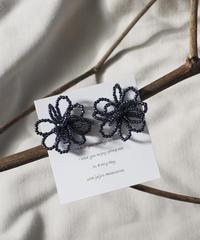 beads flower(navy)
