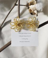 beads flower(gold)