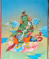 仏画(タンカ)グリーンターラ