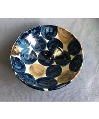 青くて大きいドットの大鉢