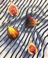 """油彩画  『無花果』 """"fig"""""""