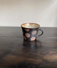 マグカップ 黒×ドット