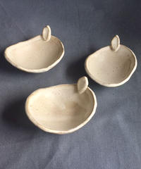 クリーム豆皿