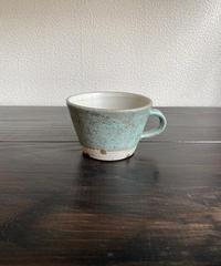 マグカップ グリーン×水玉