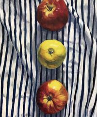 """油彩画   『林檎』""""  apple"""""""