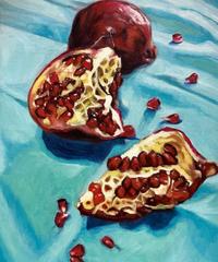 """油彩画  『柘榴」""""Pomegranate"""""""