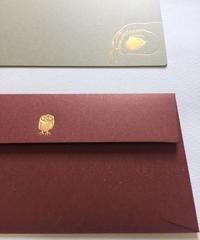 封筒セット 長方形  梟