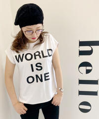 WORLD IS ONE(世界はひとつ)Tシャツ