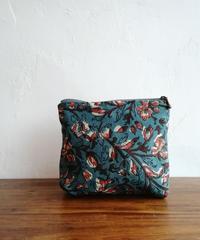 ブロックptポーチ 藍蔦花