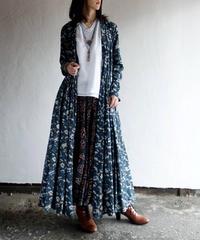 ロングカシュクール 藍白花