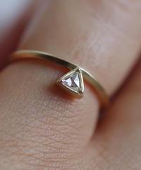 One of a kind / Rosecut diamond Ring <K18YG> - RRtr102C