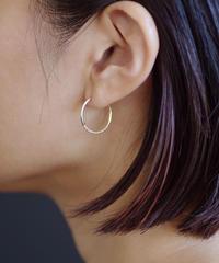 Twist pierces - circle <K18YG>