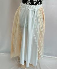 イエロー×ホワイト ロングスカート