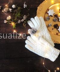 クリスマススタイリング白手袋
