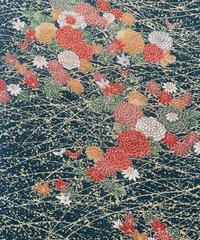 菊に紅葉模様【ギャザーラップスカート】