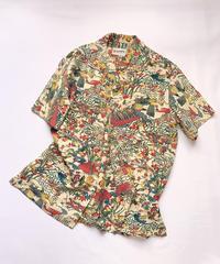 型染・時代風景模様(地紋なし)【M】【ケニシャツ】