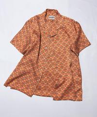 亀甲に扇模様(地紋入り)【M】【ケニシャツ】