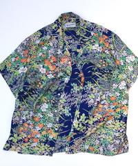 草花模様【L】【ケニシャツ】