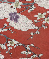 雲に枝花模様【ギャザーラップスカート】