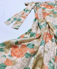 大牡丹模様【タックラップスカート】