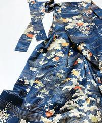 松竹梅に菊模様【タックラップスカート】
