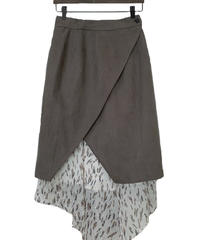 Asymmetry Set Skirt CHARCOAL×柄