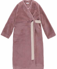 Belt far coat / PURPLE PINK