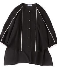 Piping blouse BLACK
