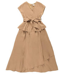 Pepram maxi dress BEIGE BROWN