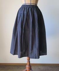 タックスカート(会津木綿・花ふさ縞)