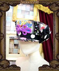kki.2208 レトロチャイナ学生帽。<くろ>
