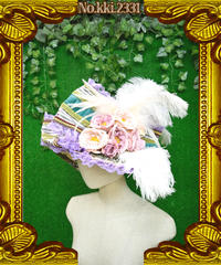 kki.2331 薔薇の貴族のオーストリッチ添え HAT。