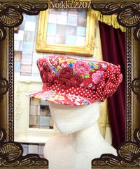 kki.2207 レトロチャイナ学生帽。<アカ>