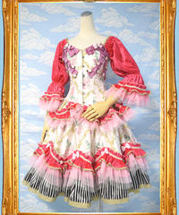 kki.1973 シュガースイーツコルセットドレス。パニエ、スカートset。