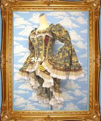 kki.1273 野薔薇ロココドレスバスクコルセット 。