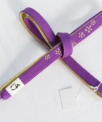 【未使用】正絹 帯締め 切房 手組紐 桜☆ストロングバイオレット【メール便可】