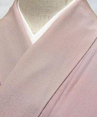 【小紋】袷着物 一つ紋 落款入り むら暈し染め/薄ピンク 薄紫 オレンジ他☆163cm前後ベスト【美品】お薦めです