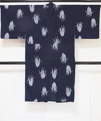 【男物】浴衣 とくさ/藍 白【美品】