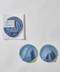 SILK BREAST PADS / DEEP BLUE : ORGANIC INDIGO DYE