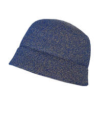 Lame cloche hat (blue)